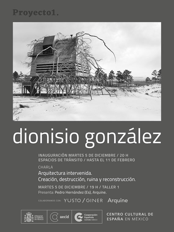 Dionisio González en el Centro Cultural de España en México.