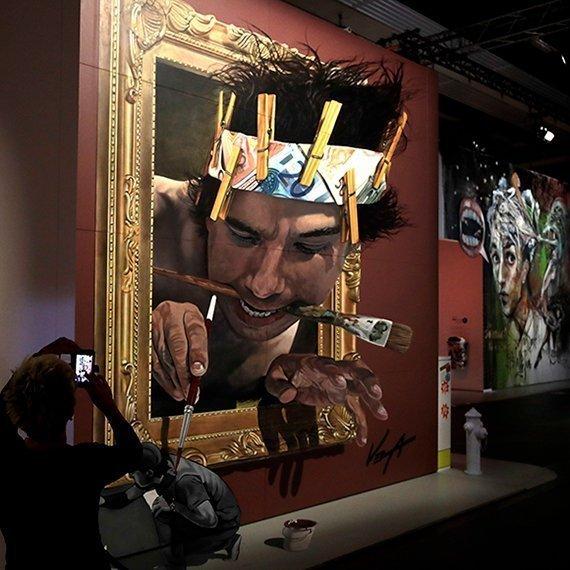 Juandres Vera en la Exposición «El arte de la Calle»