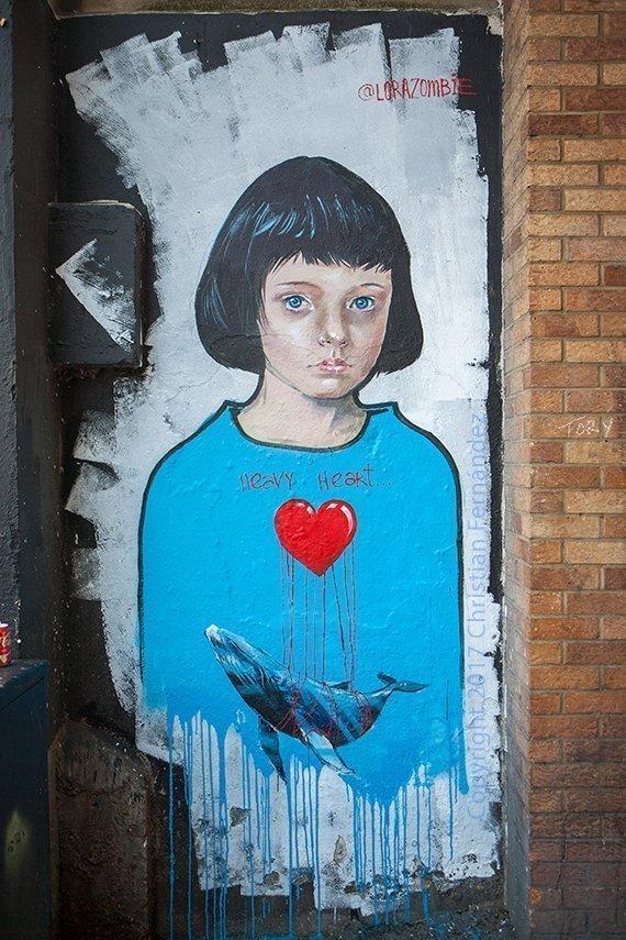 El Grunge Art de Lora Zombie en Camden, Londres.