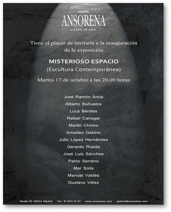 Misterioso Espacio. Exposición de Luca Benites en la Galería Ansorena de Madrid.