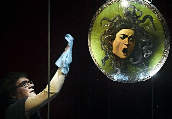 Medusa, de Caravaggio, en la Galleria degli Uffizi