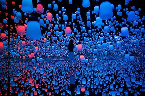 Teamlab en el Museo de Arte Digital Mori Building de Tokio