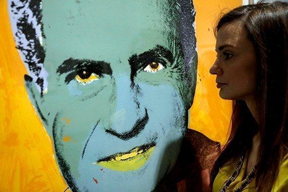 """""""Vote McGovern"""" de Andy Warhol en el Museo Británico"""